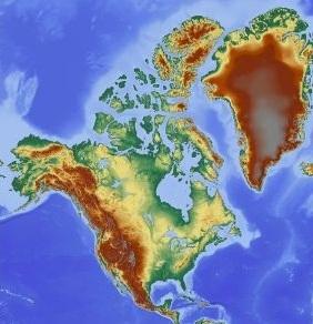 Ameryka Północna grafika