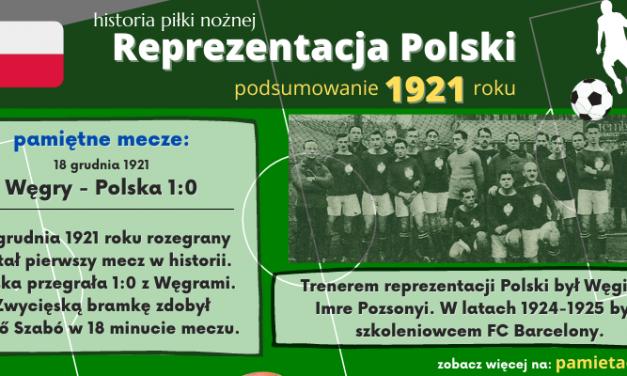 Historia reprezentacji Polski w piłce nożnej – 1921 rok