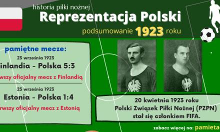 Historia reprezentacji Polski w piłce nożnej – 1923 rok