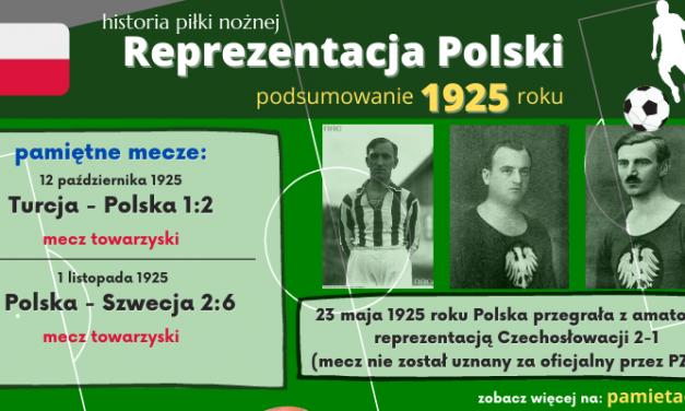 Historia reprezentacji Polski w piłce nożnej – 1925 rok