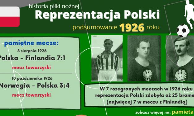 Historia reprezentacji Polski w piłce nożnej – 1926 rok