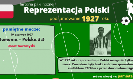 Historia reprezentacji Polski w piłce nożnej – 1927 rok