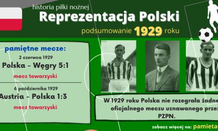 Historia reprezentacji Polski w piłce nożnej – 1929 rok
