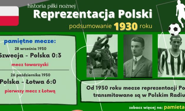 Historia reprezentacji Polski w piłce nożnej – 1930 rok